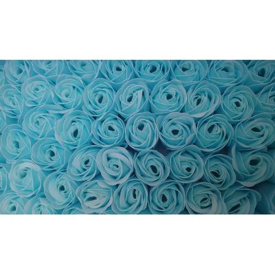 Geur Roos(4cm) Ijsblauw 9 stuks in kartonnen geschenkdoosje